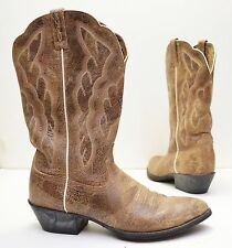 Ariat Women's Heritage Western R Toe 'Shattered' Distressed Leather Boots Sz 10B