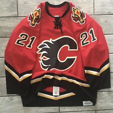 2003 CCM NHL Game Used Worn Jersey Andrew Ference Calgary Flames Meigrey Sz. 54