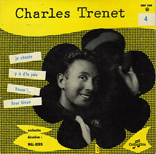 CHARLES TRENET Y'A D'LA JOIE FRENCH ORIG EP WAL-BERG