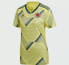 Adidas Women's Colombia 2019-20 Home Yellow Soccer Jersey Sz. Small NEW DN6617