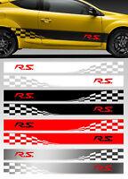 2 X BANDES RACING DAMIERS POUR MEGANE CLIO RS RENAULT AUTOCOLLANT STICKER BD577