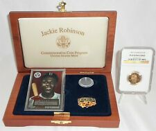 1997-W Jackie Robinson Proof $5 Gold Commemorative NGC PF 69 UC w/OGP