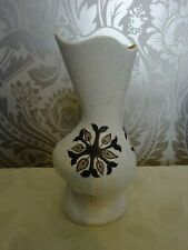 Vintage Retro Ranleigh Eulalia Abstract Vase Bown Beige Floral 23cm tall
