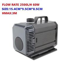 2500L/H Submersible Aquarium Water Air Pump Fish Pond Fountain Waterfall MAX 3M