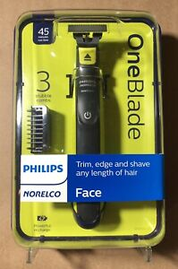 Philips Norelco OneBlade Hybrid Electric Trimmer and Shaver With 3 Stubble Combs