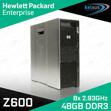 HP Z600 Workstation DUAL Xeon Quad Core X5570 CPU 48GB RAM Quadro Windows 10 PC