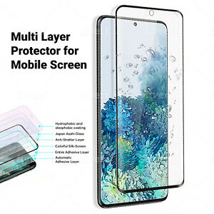 For Samsung Galaxy S20/Plus/Ultra Tempered Glass Screen Protector Full Cover 5G