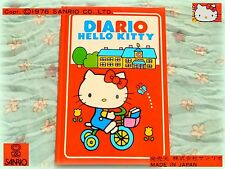 💎 Vintage SANRIO Hello KITTY 1976 RARE! DIARIO Diary collezione NEW JAPAN ITALY