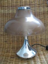 VINTAGE SIS TISCHLAMPE LEUCHTE CHROM TULPENFUSS TULIP DESK LAMP 60s 70s wippend
