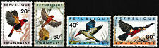 1967 Republic of Rwanda Kingfisher Birds etc Birds Stamps set of 4 - Very Good