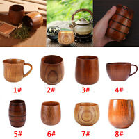 Handmade Natural Solid Wood Tea Cup Wooden Wine Coffee Water Mug Drinking Cup
