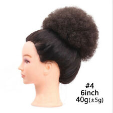 Afro Hair Bun Curly Ponytail Puffs Drawstring Ponytails Clip In Hair Extensions