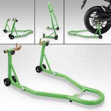 Motorradständer hinten Motorrad Montageständer Hinterrad Transportständer Grün