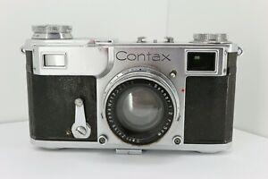 Zeiss Ikon Contax II Rangefinder 35mm Film Camera + Sonnar 50/2 Lens . NICE1