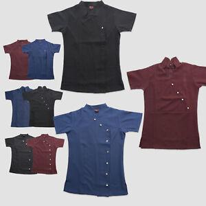 Beauty Tunic Salon Therapist Nail 3 Button Style Work Uniform Ladies SPA Jackets