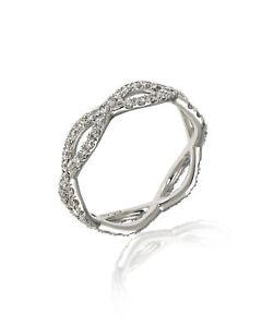 Roberto Coin 18k White Gold Diamond 0.7ct Ring Sz 6.25 000072AW65X0 MSRP $3100