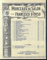 FRANCESCO D'ORSO, POLKA DES POUPÈES Op. 39,  übergroße, alte Noten