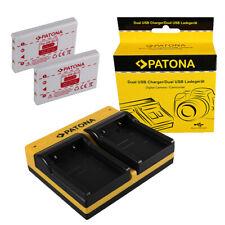 2x Batteria Patona + caricabatteria USB dual per Nikon CoolPix P510,P520,P5100