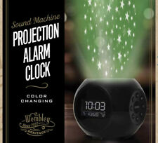 Projection Alarm Clock + Sound Machine, Color-changing, Wembley Heritage, NEW