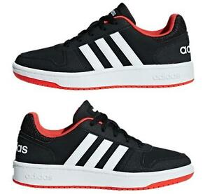 Adidas Kids Children's Hoops 2.0 Basketball Trainers Classic Sneakers Black