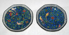 2 ART DECO ROYAL DOULTON BIRDS BLUE CHINTZ PERSIAN PARROTS D4031 SAUCER