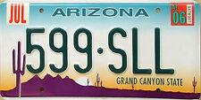 Arizona DESERT CACTUS Embossed License Plate - GRAND CANYON STATE