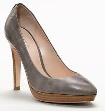 New Coach CHELSIE Classic Pointy Distressed Pump Platform Heel Shoe ~Gray *9