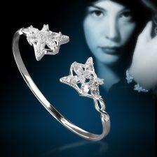 New Nice 925 Sterling Silver CZ Stone LOTR Elf Princess Arwen Star Bracelet HJ23