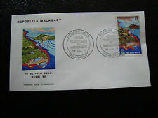 MADAGASCAR -enveloppe 23/7/71- hotel palm beach nossi be - yt n° 490 -(cy4)(R