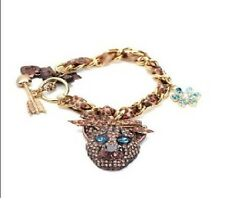 B267 Betsey Johnson Lion King Simba Cheetah Leopard Cat Flower Arrow Bracelet US