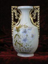Art Deco Hand Painted Carlsbad Austrian PORCELAIN Vase Victoria Gold