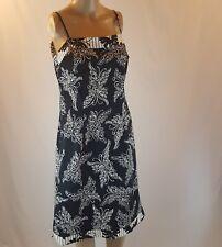 Think Tank Women's Dress Black White Butterfly Knee Length Size 8
