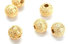 10 Lovely Gold Plated Stardust Round Beads 12MM
