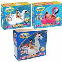 Jumbo Inflatable Swan/Flamingo/Unicorn Giant Floating Pool Water Swimming Beach