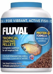 Fluval Tropical Fish Medium Pellets Multi Protein Daily Nutrition 90g (3.17oz)