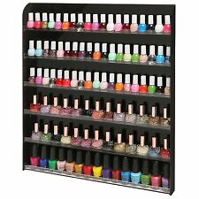 102 Bottle Wall Mounted Salon Style Nail Polish Rack Storage Display Organizer