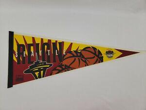 Vintage ABL Seattle Reign Pennant - Women's Basketball - Defunct Team - Flag