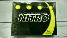 Nitro Ultimate Distance Yellow Golf Balls 12-Ball Pack