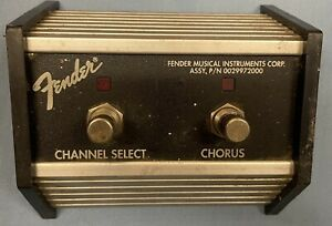 Fender Amplifier 2 Button Footswitch Channel Select / Chorus 29972