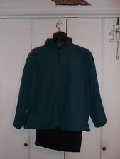 Basic Edition Turquoise Fleece Hooded Winter Coat Size L Blue Hood Jacket New