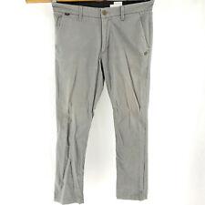 Fox Racing Mens 33x32 Selecter Slim Tapered Khakis 5 Pocket Casual Pants NICE!
