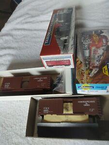 Lot of 2 40' HO C&O box car kits Athearn 5965 & Yardman Brachline 8003 NIB