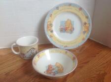 Royal Doulton Classic Pooh 3-Piece Gift Set Hunny Time Cereal Bowl, Mug & Plate