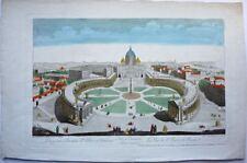 Rome: Vue d'Optique représentant la Vue de St Pierre de Rome /18éme