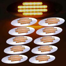 10PCS 24 LED Amber Side Marker Lamp Sealed Turn Light for Kenworth Peterbilt 12V