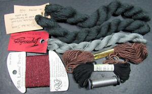 7xNeedlepoint/Embroidery THREAD BROWN PKG Silk&Ivory/CARON Impression+silks-JK41