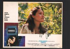 Barbara Carrera - Signed Autograph Lobby Card - Embryo