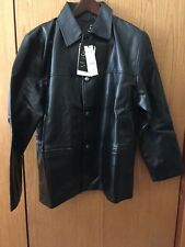 New Black Men's Faux Leather Jacket