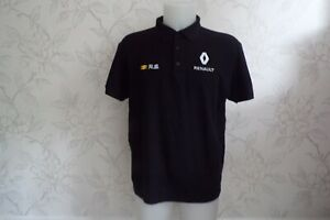 RENAULT F1 TEAM ISSUE POLO SHIRT MENS XL EMBROIDERED SPONSERS 2019 SEASON