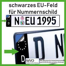 2x EU Feld für Kennzeichen Aufkleber Nummernschild schwarz gelb pink rot grün
